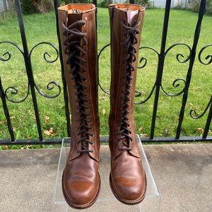 Frye Women's Melissa Tall Lace Up Boots - Sz 7
